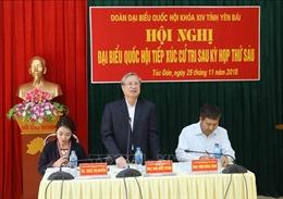 Thường trực Ban Bí thư Trần Quốc Vượng tiếp xúc cử tri huyện Trạm Tấu, Yên Bái
