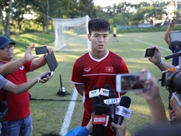 Trung vệ Duy Mạnh: 'Khi đã vào sân đều quyết tâm chiến thắng'
