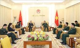 Đại tướng Ngô Xuân Lịch tiếp Đại sứ Trung Quốc Hùng Ba