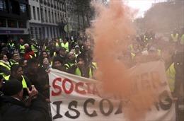 Bắt giữ  khoảng 70 người trong cuộc biểu tình 'Áo vàng' ở Brussels, Bỉ