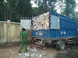 Bắt quả tang 7 xe tải chở hàng chục tấn rác thải đổ ra môi trường