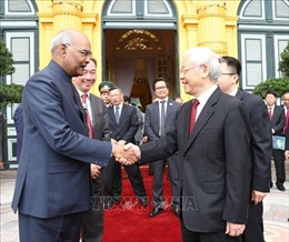 Tổng thống Ấn Độ kết thúc tốt đẹp chuyến thăm cấp Nhà nước tới Việt Nam