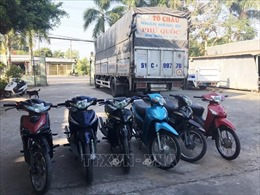 Phát hiện xe tải chở 6 xe máy nghi do phạm tội mà có