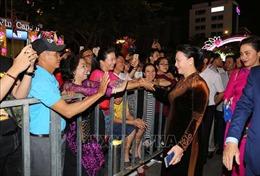 Chủ tịch Quốc hội Nguyễn Thị Kim Ngân tại đêm khai mạc Lễ hội Đường hoa Nguyễn Huệ