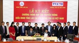 UBND tỉnh Lào Cai và Thông tấn xã Việt Nam ký kết hợp tác truyền thông giai đoạn 2019-2020