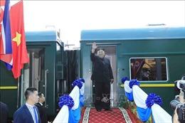 Lễ tiễn Chủ tịch Triều Tiên Kim Jong-un tại ga Đồng Đăng