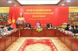 Trưởng Ban Dân vận Trung ương Trương Thị Mai làm việc tại Hải Phòng