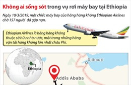 Không ai sống sót trong vụ rơi máy bay tại Ethiopia