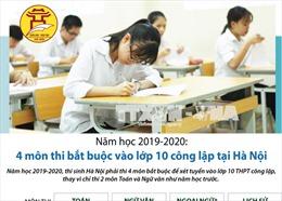 4 môn thi bắt buộc vào lớp 10 công lập tại Hà Nội