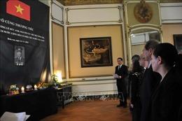 Tổ chức trang trọng lễ viếng và mở sổ tang nguyên Chủ tịch nước Lê Đức Anh tại Bỉ và Israel