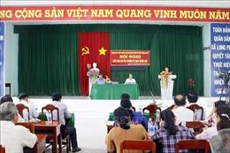 Phó Chủ tịch nước Đặng Thị Ngọc Thịnh tiếp xúc cử tri tại tỉnh Vĩnh Long