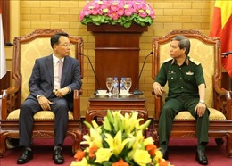 Trung tướng Đỗ Căn tiếp Đoàn các sĩ quan Quân đội Hàn Quốc