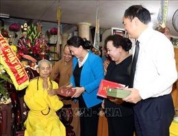 Chủ tịch Quốc hội thăm, chúc mừng Pháp chủ Giáo hội Phật giáo Việt Nam