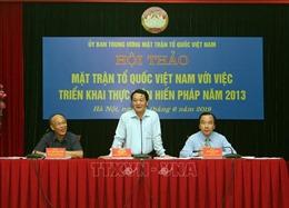 Mặt trận Tổ quốc Việt Nam với việc triển khai thực hiện Hiến pháp năm 2013