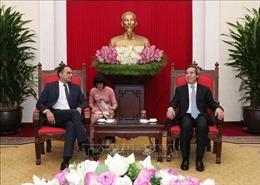 Trưởng ban Kinh tế Trung ương tiếp Phó Chủ tịch Ngân hàng Phát triển châu Á