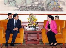 Chủ tịch Quốc hội Nguyễn Thị Kim Ngân tiếp lãnh đạo các doanh nghiệp Trung Quốc