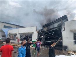 Kịp thời khống chế vụ cháy lớn ở thị xã Tân Uyên