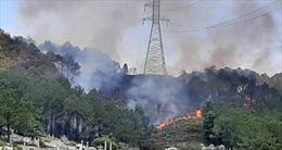 Cháy rừng gây nguy cơ ảnh hưởng đến các đường dây truyền tải điện Quốc gia