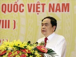 Chủ tịch MTTQ VN tiếp Đoàn đại biểu Giáo hội Tịnh độ cư sỹ Phật hội Việt Nam