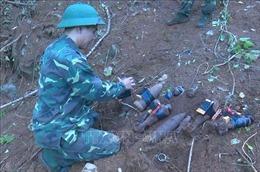Hủy nổ bom, đạn còn sót lại tại di tích đồn Mộc Lỵ