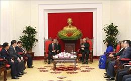 Đồng chí Trần Quốc Vượng tiếp Đoàn đại biểu cấp cao Ban Kiểm tra Trung ương và Thanh tra Chính phủ Lào