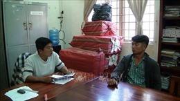 Tàng trữ 10.000 bao thuốc lá nhập lậutừ Campuchia về Việt Nam