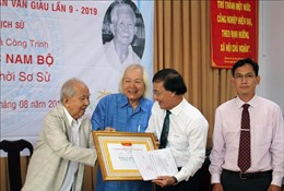 Trao Giải thưởng Khoa học Trần Văn Giàu lần thứ IX cho Công trình Khảo cổ học Nam Bộ