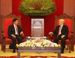 Tổng Bí thư, Chủ tịch nước Nguyễn Phú Trọng tiếp Thủ tướng Chính phủ Lào
