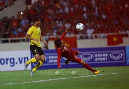 Trận Việt Nam- Malaysia: Quang Hải lập công, tuyển Việt Nam chiến thắng 1-0