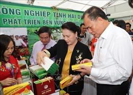 Chủ tịch Quốc hội Nguyễn Thị Kim Ngân thăm, làm việc tại Hải Dương
