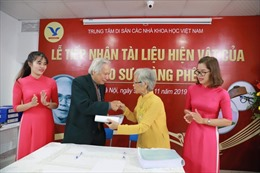 Tiếp nhận hơn 2.000 tài liệu, hiện vật của Giáo sư Hoàng Phê – nhà ngôn ngữ học hàng đầu Việt Nam