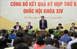 Kỳ họp thứ 8, Quốc hội khóa XIV: Hoàn thành chương trình nghị sự với nhiều nội dung quan trọng