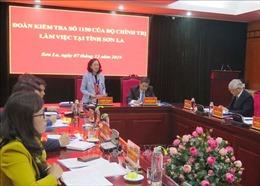 Đoàn kiểm tra của Bộ Chính trị làm việc tại Sơn La