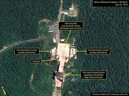 Dấu hiệu hoạt động tại bãi thử tên lửa của Triều Tiên
