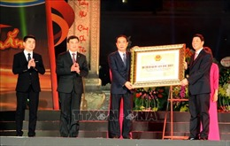 Đón nhận Bằng xếp hạng Di tích quốc gia đặc biệt Địa điểm chiến thắng Xương Giang