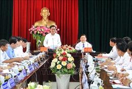 Đoàn công tác Ủy ban Kiểm tra Trung ương làm việc tại Vĩnh Long