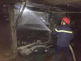 Nghệ An: Kịp thời dập tắt đám cháy chợ Vân