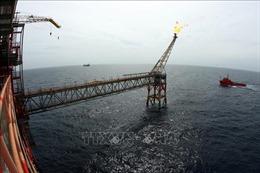 Vietsovpetro hạ thủy thành công chân đế giàn đầu giếng BK-21 mỏ Bạch Hổ