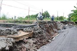 Tỉnh lộ 965 qua huyện U Minh Thượng bị sụt lún, sạt lở nghiêm trọng
