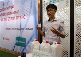 Hợp tác điều chế gel rửa tay khô từ kết quả nghiên cứu nano bạc