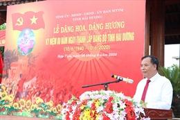 Kỷ niệm 80 năm ngày thành lập Đảng bộ tỉnh Hải Dương