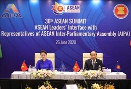 Phiên đối thoại giữa lãnh đạo các nước ASEAN và AIPA