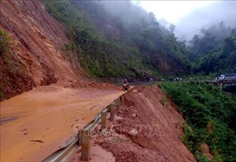 Mưa lớn gây sạt lở, ngập úng nhiều tuyến đường tại Lai Châu