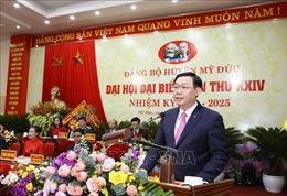 Bí thư Thành ủy Hà Nội: Phấn đấu đến năm 2022, huyện Mỹ Đức đạt chuẩn nông thôn mới