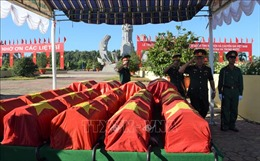 Đồng Tháp tổ chức truy điệu và cải táng 52 hài cốt liệt sĩ