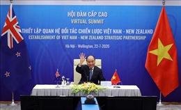 Thủ tướng Nguyễn Xuân Phúc hội đàm trực tuyến cấp cao với Thủ tướng New Zealand