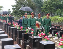 Tổ chức truy điệu, an táng 10 hài cốt liệt sĩ hi sinh ở Campuchia và trong nước