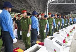 Truy điệu, an táng 72 hài cốt liệt sĩ tại huyện Hòn Đất, Kiên Giang
