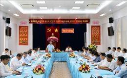 Thường trực Ban Bí thư Trần Quốc Vượng làm việc với Tỉnh ủy Cà Mau