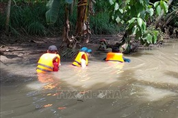 Tìm kiếmngười phụ nữ lọt xuống mương nước mất tích ở Đồng Nai
